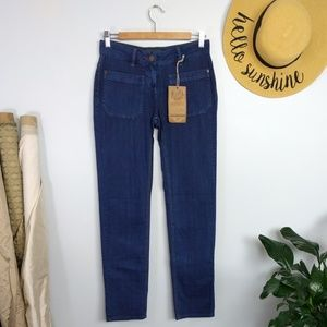 Roots Canada Straight Leg Dark Wash Jeans 24 / 0
